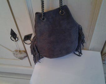 Small bag shaped purse gray