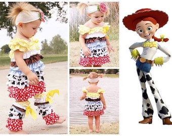 Girls Embellished Jesse Toy Story Outfit
