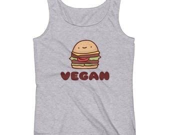 Vegan Beef Burger - Funny - Women's Tank Top