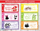 Printable Naughty Love Coupons For Men Husband Boyfriend, Sexy Romantic Love Coupons, Love IOU, Romantic Gift For Him, Instant Download