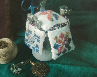Counted Cross Stitch Notions Holder and Pin Cushion kit