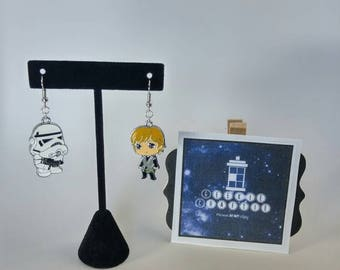 Luke Vader stormtrooper earrings / bracelet