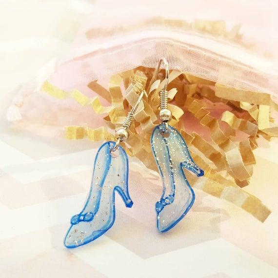 Cinderella's Glass Slipper Earrings