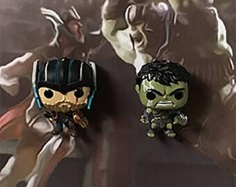 Thor Ragnarok Inspired Thor & Hulk 3-D Effect Framed Wall Art