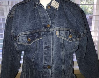 Vintage Denim Jacket - Levis 1980's Womens Large - Made in the USA