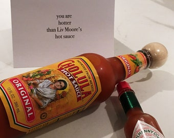 You are hotter than Liv Moore's hot sauce / iZombie Inspired Card / iZombie Birthday / Funny Birthday / Sassy Birthday / Zombie Birthday
