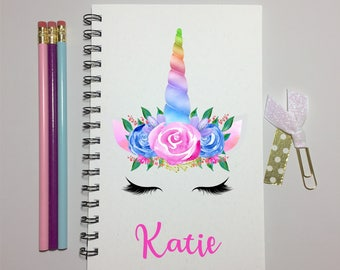 Unicorn, Unicorn Journal, Bullet Journal, Notebook, Journal, Unicorn Gift, Gift, Personalized, Sketchbook, Cute, Writing, Party Favor, kids