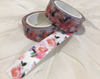 WATERCOLOUR ROSE GARDEN Washi tape