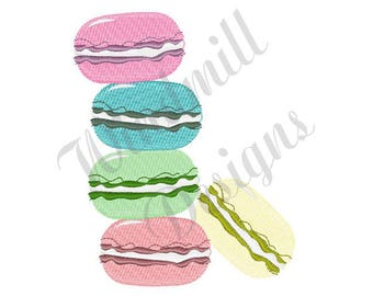 French Macaron - Machine Embroidery Design