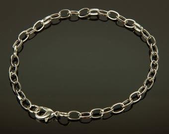 Bracelet chain Platinum color - 72108