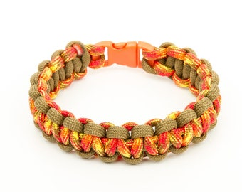 Red 550 Paracord Bracelet hot camo/coyote brown