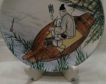 Daehan China co. Hand Painted Charger, Korea Hand painted charger, 1940's
