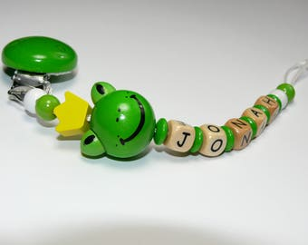 Pacifiers with wish name Frog King