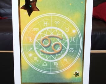 Cancer - Horoscope Birthday Card - Zodiac/Star Sign - Jun 21 to Jul 22 - luxury personalised unique quality special astrological UK