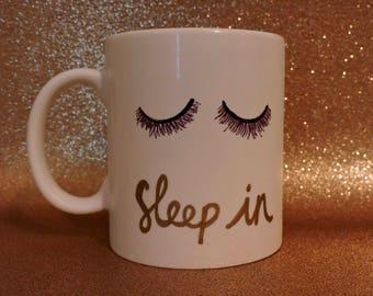 Sleep In // eyelashes // weekend // Ceramic Mug