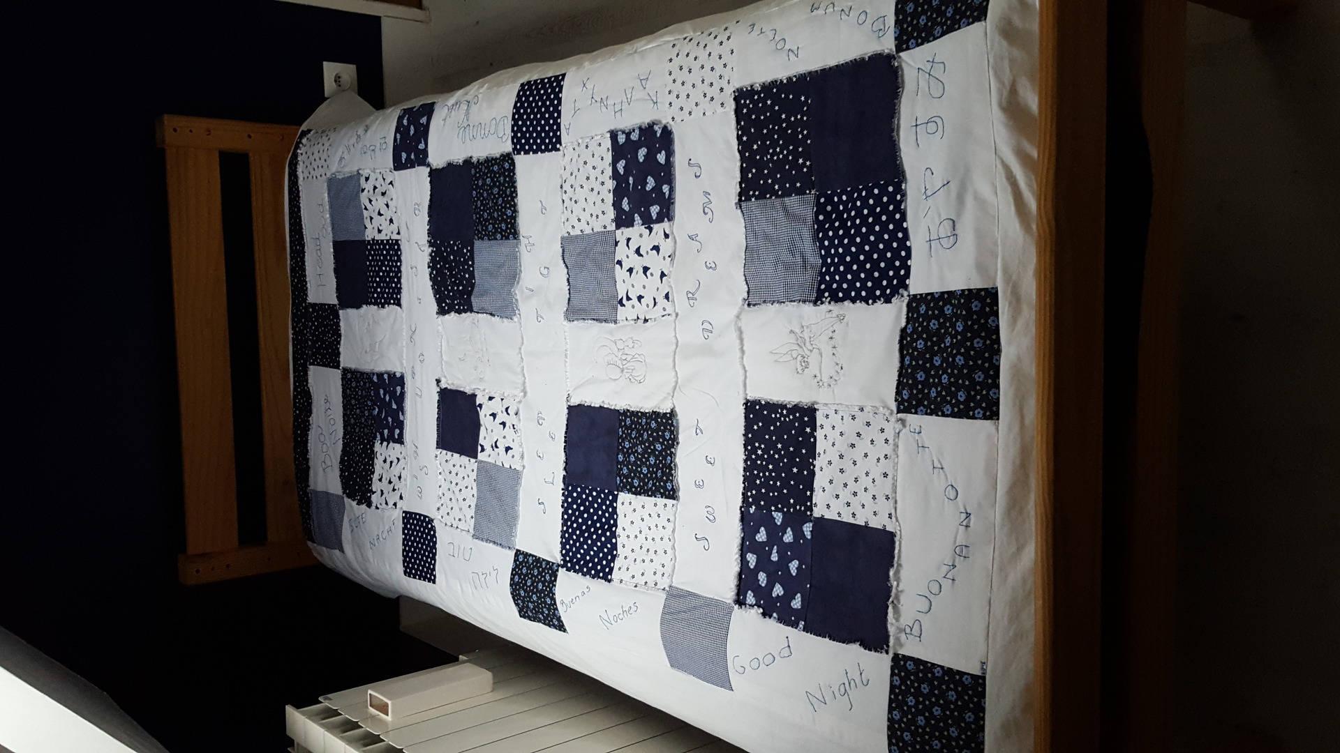 jolie couvre lit l ger patchwork fait main pour lit une. Black Bedroom Furniture Sets. Home Design Ideas