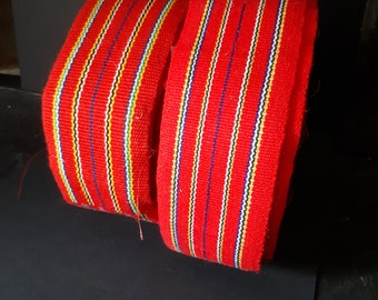 Vintage Red Striped Tape Binding