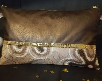 Pouch Pu leather and Wax