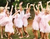 Bridesmaid Gift, Bridesmaid Robes, Bridesmaid Gift Idea, Wedding 2018, Monogram Bridesmaid Robe, Bridal Robe, Cotton Robe, Robe set