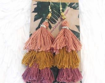 NEW 3-Tiered Tassel Earrings || Tutti Fruity