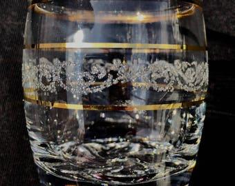 Barrel etched Shot glass set of 6