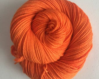 Orange III – Full Skein on Khoshekh Worsted – 218yds/100g – 100% Merino