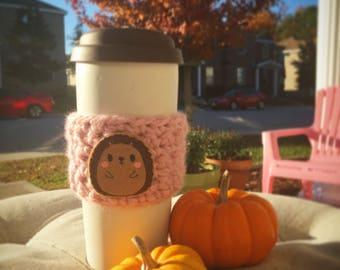 FELT IMAGE EMBELLISHED coffee cup cozy - multiple variations of image + color