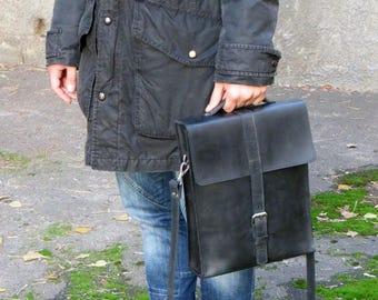 MESSENGER BAG, Leather vertical bag men, Lether shoulder bags men, Men's leather handbag, Black leather messenger, Vintage mens bags