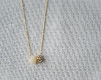 Ivory & Gold  Bead Necklace