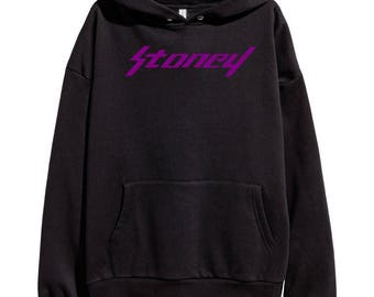 Post Malone Stoney Purple Logo Hoodie Hip Hop Rap Classic Hooded Sweatshirt Hip Hop Go Flex Rockstar White Iverson Deja Vu New