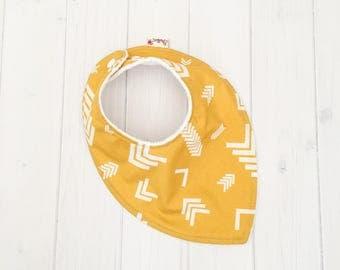 Mustard Baby Bib, Dribble Bib, Teething Baby, Feeding Bib, Baby Bib,