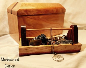Large jewellery box with insert tray.