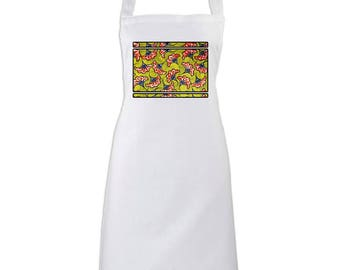 Apron yellow Wax - Africa