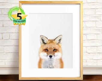 Fox Wall Art wilderness wall art | etsy