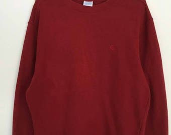 Rare!! Champion Small Logo Embroidery Pullover Jumper Sweatshirt
