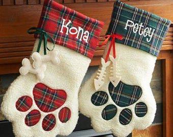 Christmas Stockings, Pet Christmas Stockings, Pet Stockings, Personalized Stocking, Cat Stocking, Dog Stocking, Custom Pet Stocking
