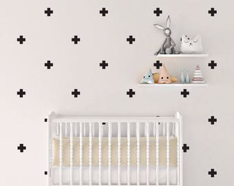 wall decal stickers, cross wall decals, decal stickers cross, cross sticker, nursery decor, vinyl wall sticker, wall vinyl, wall decals