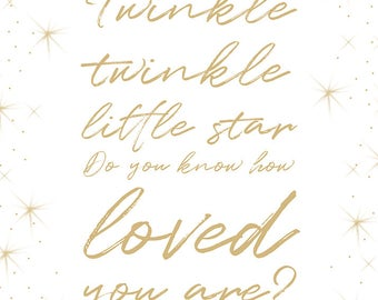 Twinkle Little Star printable, digital art download