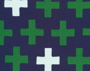KNIT, Cross-Navy, 2017 Knit Collection, Cloud 9 Fabrics, Organic Knit Fabric, Jersey Knit