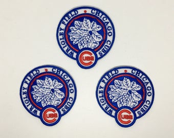 Chicago Cubs Sport Embroidered Iron On Patch - Set 3 PCS.