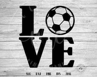 soccer love svg, love svg, soccer SVG, soccer Mom, Sports SVG, Baller SVG, Cricut, Silhouette, Cut Files, dxf, png, eps, jpeg