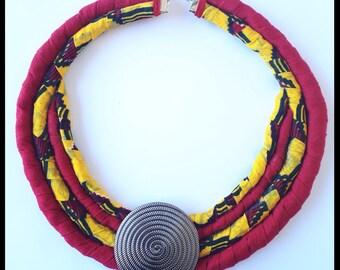 "Handmade necklace ""Nabi"" Wax and linen"