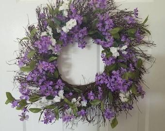 Spring wreath / summer wreath/ door wreath/front door wreath/housewarming wreath/ gift/door decor