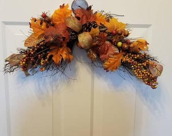 Fall wreath/door wreath/housewarming wreath/front door wreath ready/autumn Wreath F18