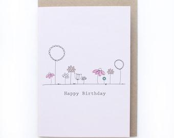 Simple flowers - Greeting card