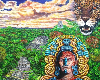 Incas, painting, canvas, creating