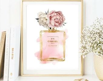 Chanel - peonies print -