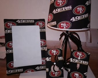 San Francisco 49ers lamp set
