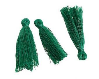 Tassels tassels Decoration green 30 mm, 5 Pcs