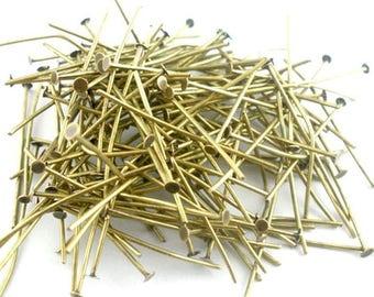 300 Bronze 50 mm flat head pins